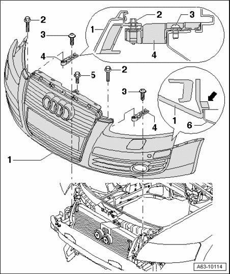 Audi A6 2005 Bumper Cover