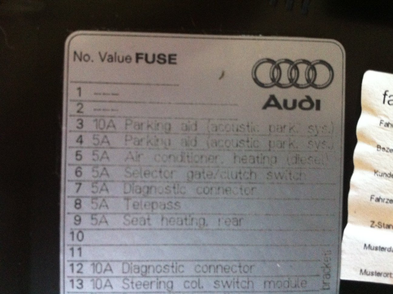 audi a6 c6 fuse box - trunk location  click image for larger version  name: fuse box jpg views: 8216 size: