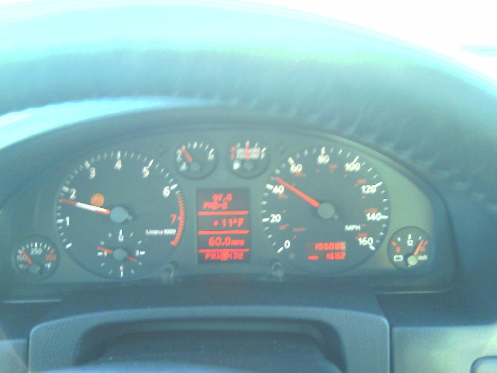 coolant sensor not moving, check engine light on - Audi Forums