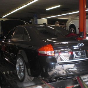 At the dyno with Steve's RS6
