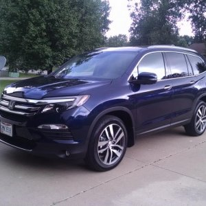 2016 Pilot Touring in driveway of rental house in Ohio