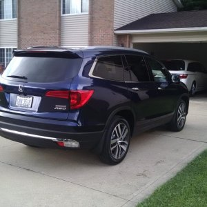 2016 Pilot Rear at Rental House